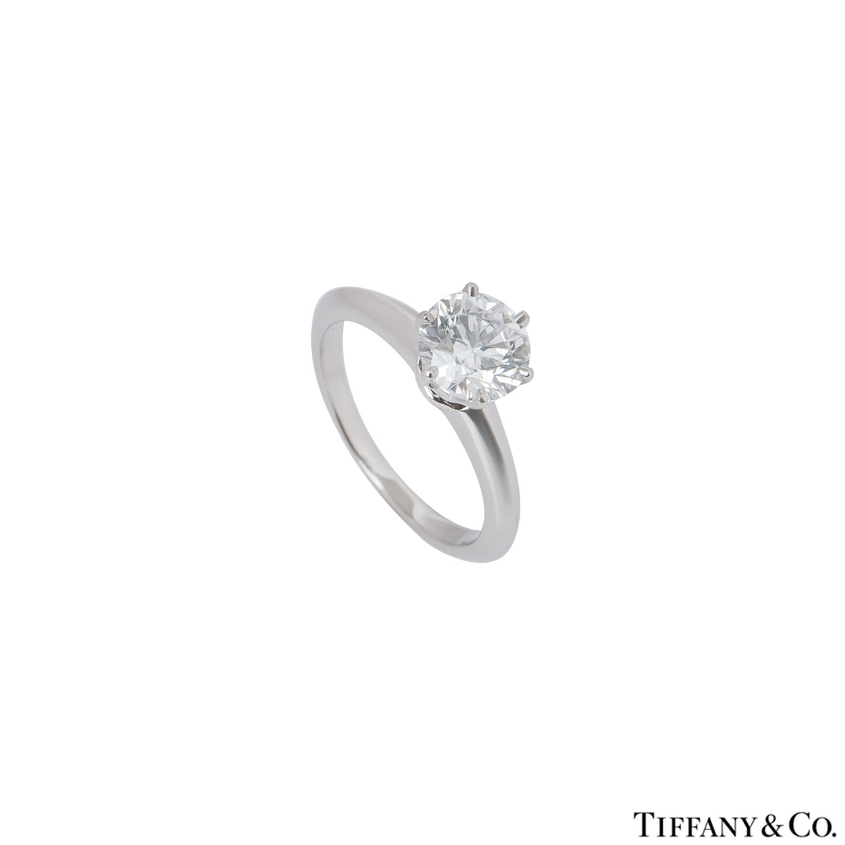 Tiffany & Co. Platinum Diamond Setting Ring 1.22ct D/VS1 XXX